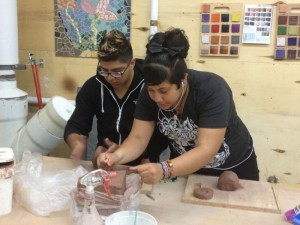 Students working with clay 9_12
