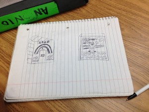 Sketches for the ofrenda one student is planning to honor Rev. Dr. Martin Luther King, Jr.