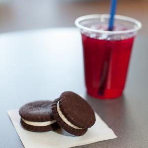 Half Pint soda and cookies