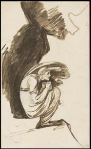 "George Romney, Study for the ""Lapland Witch,"" c.1775-77, The John R. Van Derlip Fund 68.51"