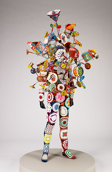 Nick Cave, Soundsuit, 2010, metal, wood, plastic, pigments, cotton and acrylic fibers. Gift of funds from Alida Messinger © Nick Cave and Jack Shainman Gallery, NY