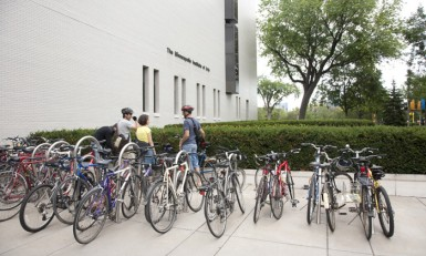 Bicycles outside the museum